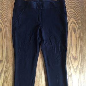 LOFT Marisa Skinny Black Pants Size 10